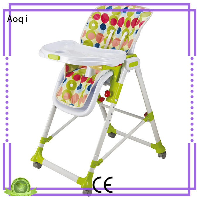 Aoqi adjustable high chair for babies directly sale for infant