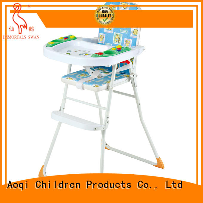 portable Custom adjustable child high chair musical Aoqi