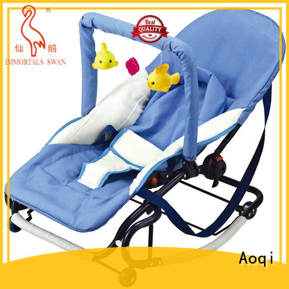 Aoqi foldable unisex baby bouncer factory price for bedroom