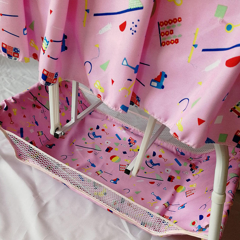Wholesale baby furniture electric swing baby bed with basket and braking wheels