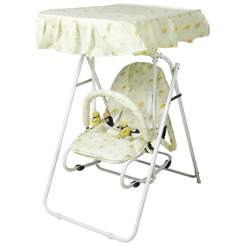 Multifunctional metal baby swing chair with canopy and toys 503A