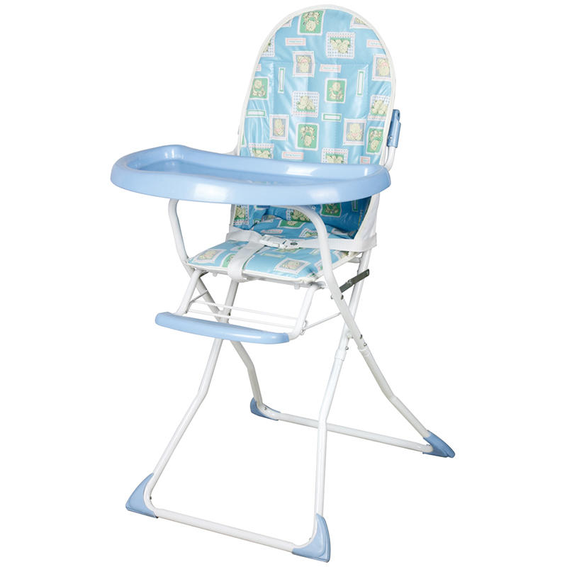 Metal and plastic high chair for baby feeding 328