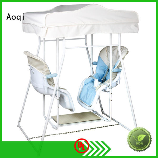 Aoqi quality upright baby swing factory for kids