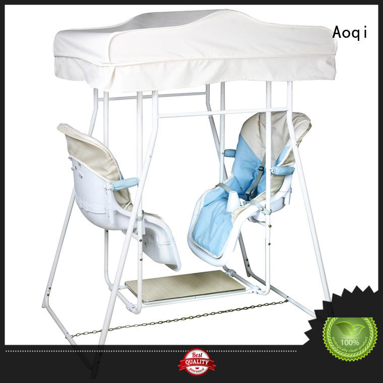 Aoqi double seat best baby swing chair with good price for babys room