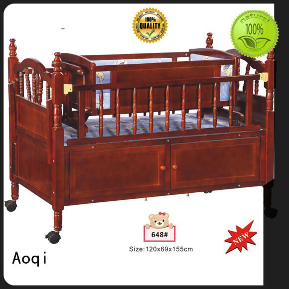 wooden baby cradle bed manufacturer for babys room