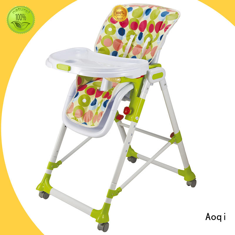 plastic folding baby high chair customized for livingroom