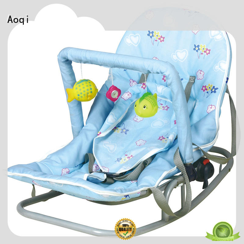 Aoqi musical newborn baby rocker factory price for home