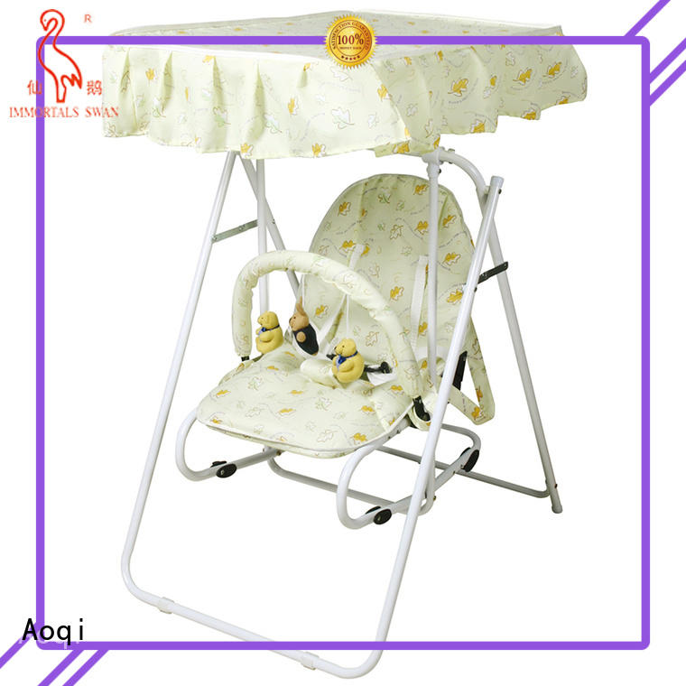baby cheap baby swings for sale foldable multi-colors Aoqi company