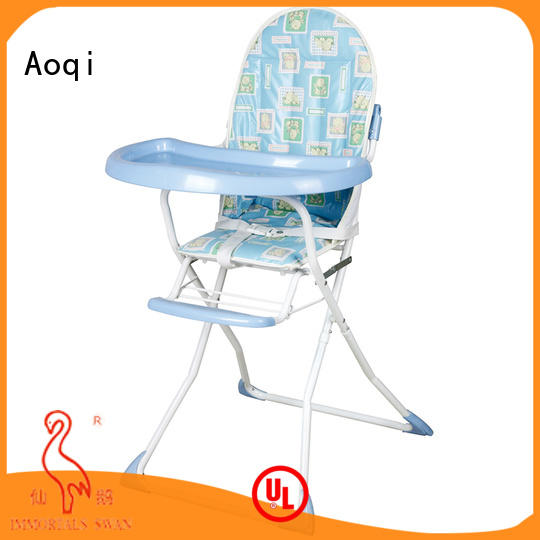 Aoqi 328 foldable baby high chair manufacturer for home