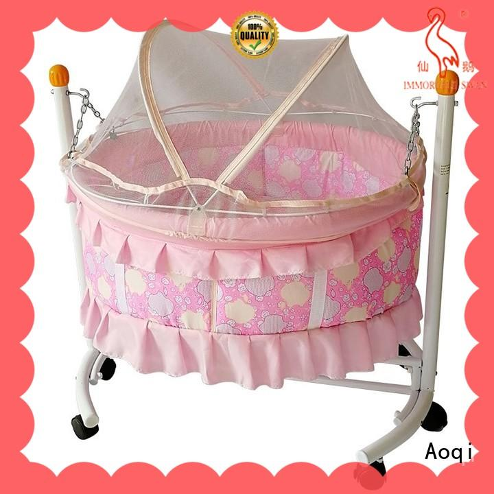 wooden baby sleeping cradle swing customized for household