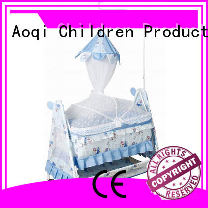 shape baby cots and cribs high quality Aoqi company