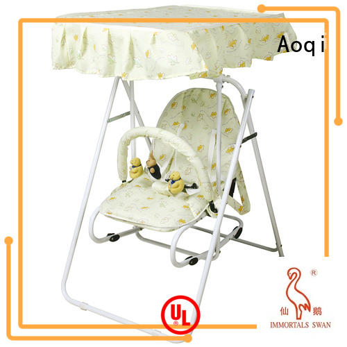 Quality Aoqi Brand baby swing chair online metal