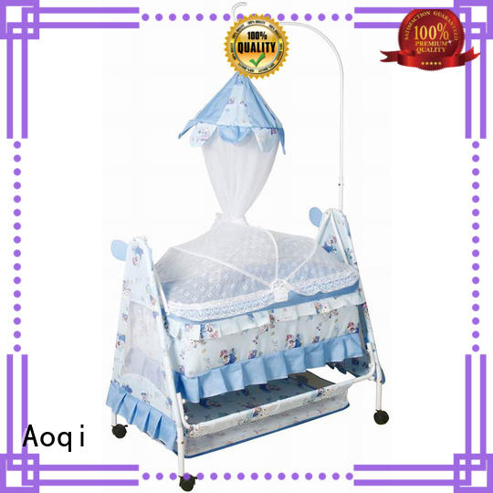 Aoqi round shape baby bed with drawers with cradle for babys room