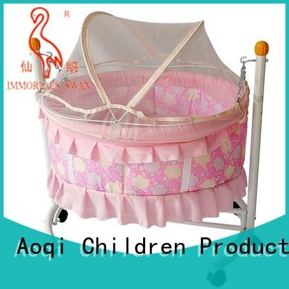 Aoqi wooden baby cradle bed directly sale for babys room