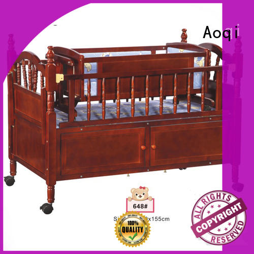 Aoqi portable cheap baby cots for sale directly sale for bedroom