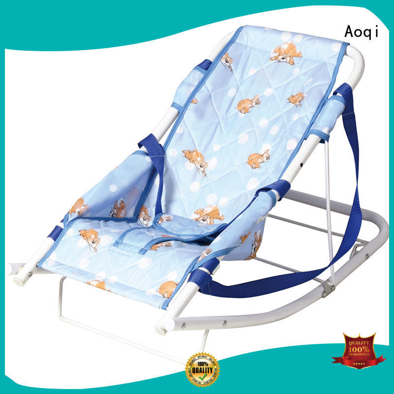 Aoqi Brand stable safe baby bouncer and rocker canopy factory