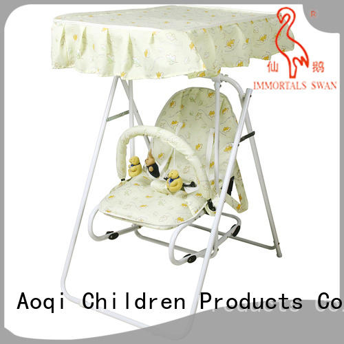 Aoqi hot selling best compact baby swing design for kids