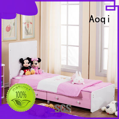 Transformable wooden baby bed and kid's bed with cabinet and drawers 503A