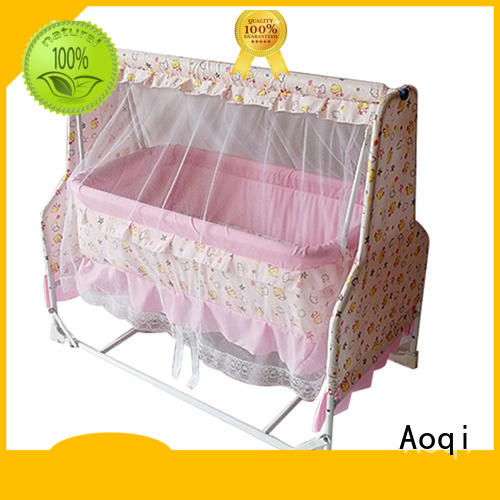 braking iron multifunctional anti-mosquito baby crib online Aoqi
