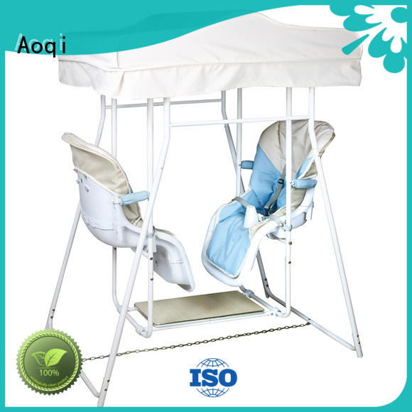 Aoqi double seat affordable baby swings for babys room