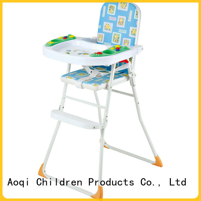 Aoqi portable adjustable high chair for babies customized for home