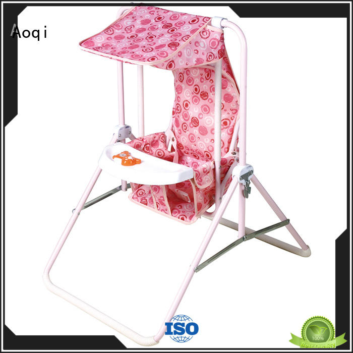 Aoqi hot selling baby musical swing chair factory for household
