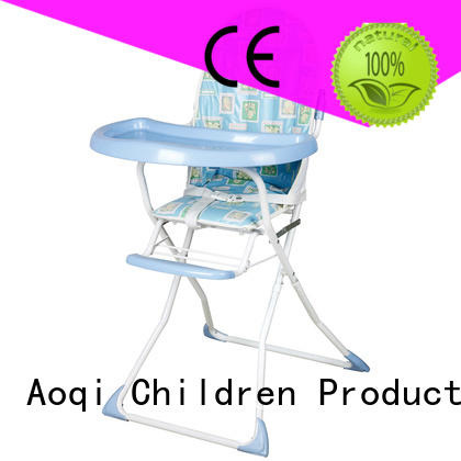Aoqi plastic folding baby high chair manufacturer for home