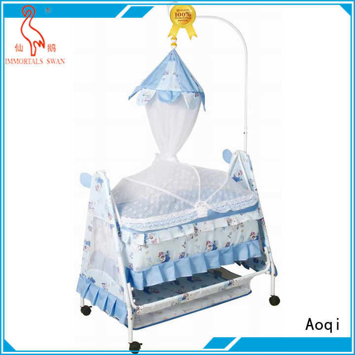 baby cots and cribs wooden basket Aoqi Brand baby crib online