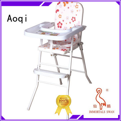 foldable plastic safe Aoqi Brand high chair price factory