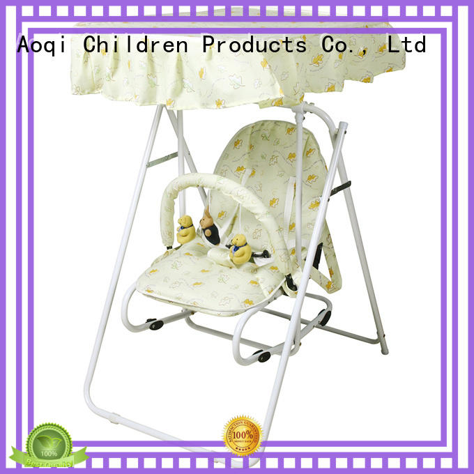 Aoqi durable upright baby swing with good price for kids
