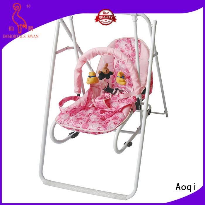 Wholesale metal bouncer cheap baby swings for sale Aoqi Brand