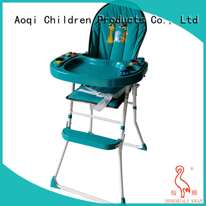 foldable baby high chair with wheels from China for livingroom