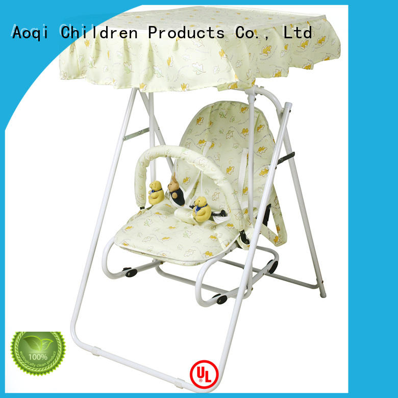 Aoqi hot selling best baby swing chair with good price for household