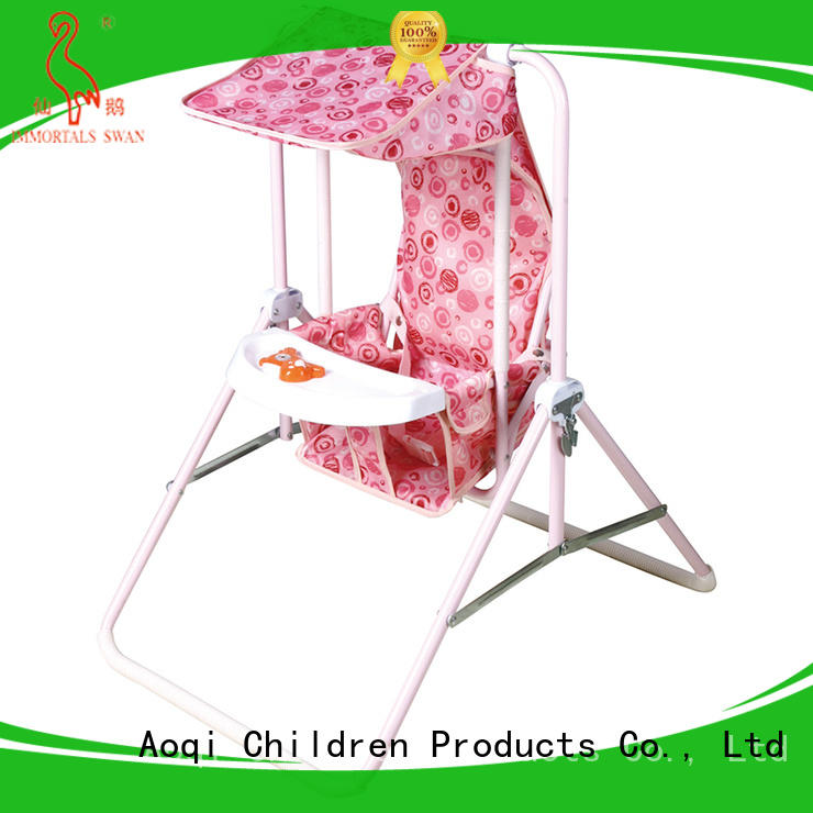 Aoqi double seat best baby swing chair design for household