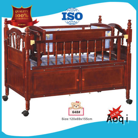Aoqi portable cheap baby cots for sale customized for bedroom