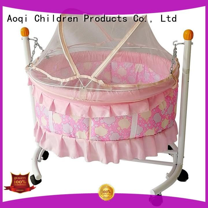 Aoqi wooden baby crib for sale manufacturer for household
