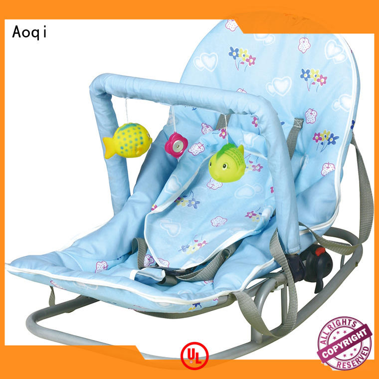 Aoqi foldable neutral baby bouncer factory price for home