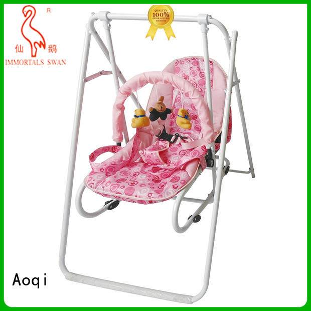 Custom toys double cheap baby swings for sale Aoqi baby