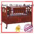 Aoqi Brand round braking comfortable baby crib online manufacture