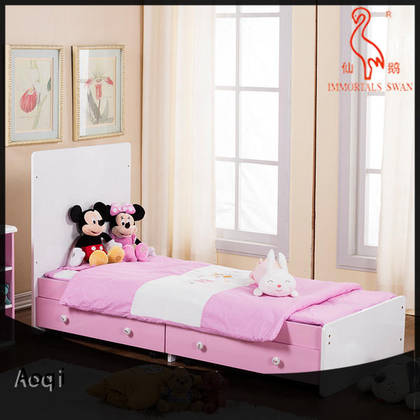Aoqi wooden baby cot bed sale directly sale for household