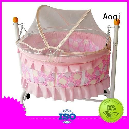 Aoqi Brand electric baby cots and cribs wheels supplier