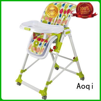 Custom plastic musical child high chair Aoqi multifunctional