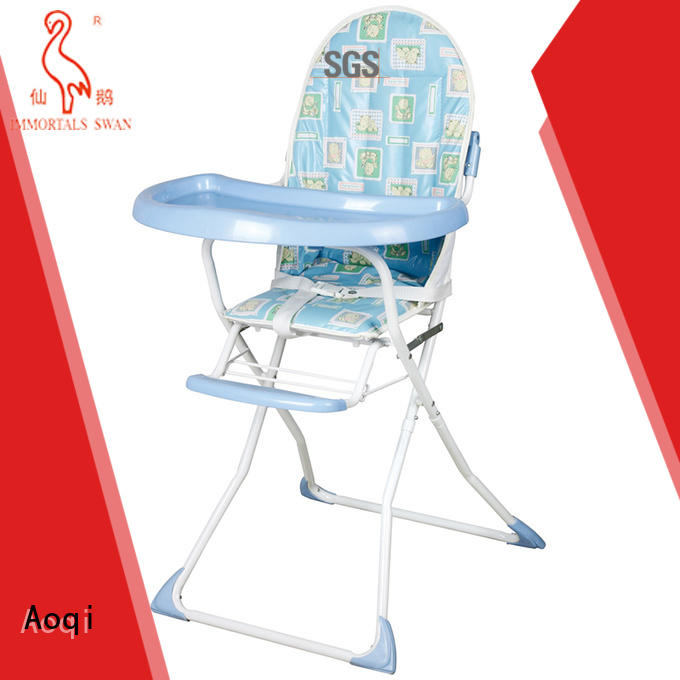 Aoqi foldable cheap baby high chair manufacturer for livingroom