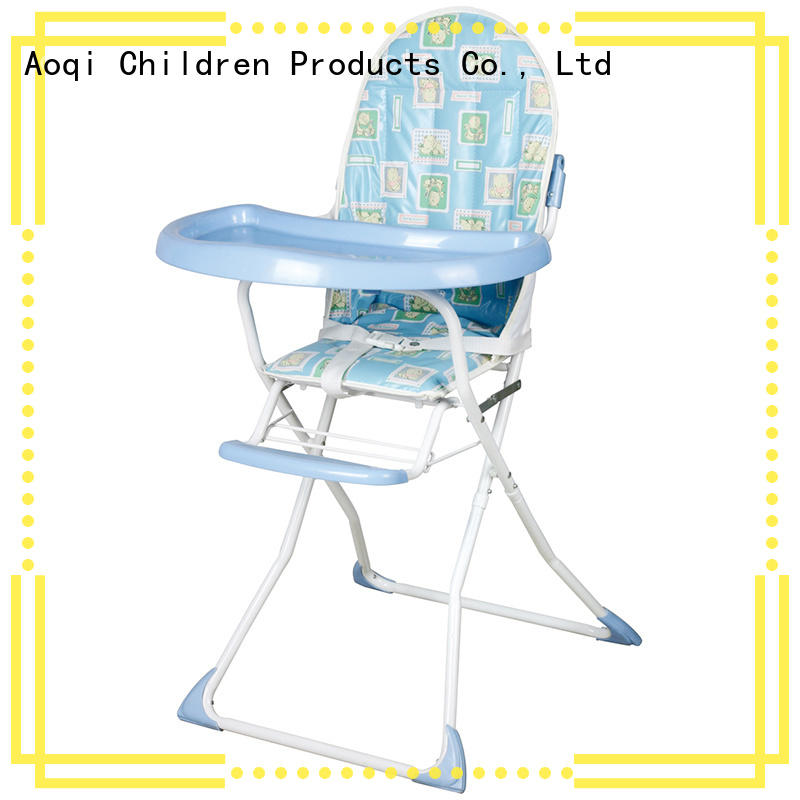 Aoqi plastic folding baby high chair directly sale for home