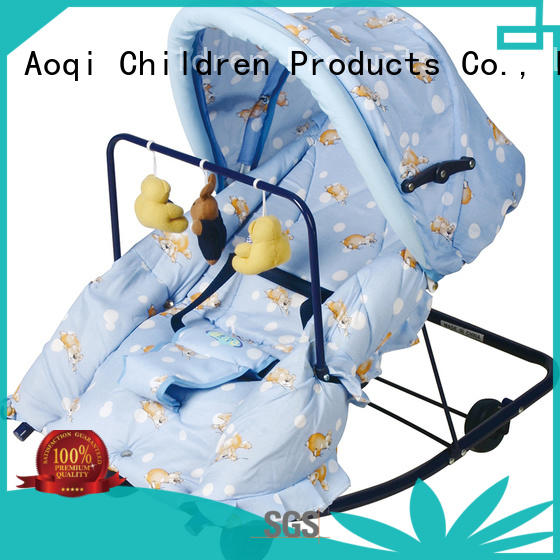 Aoqi foldable baby bouncer and rocker supplier for bedroom