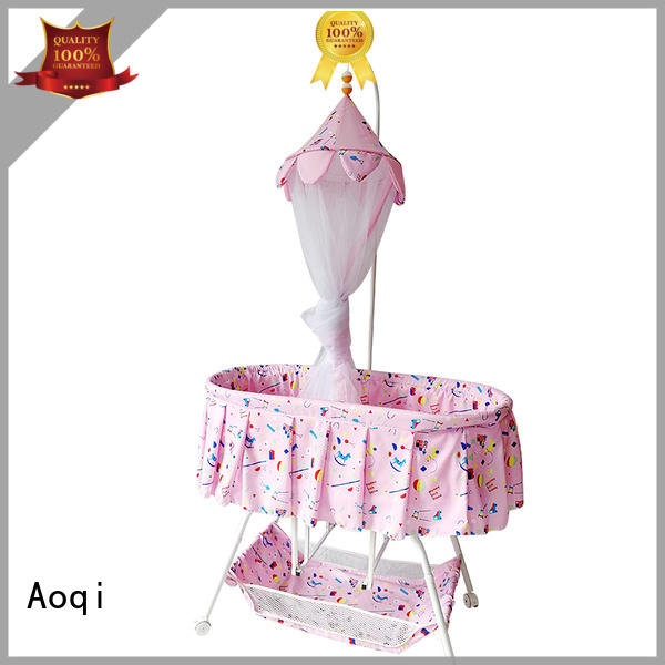 Aoqi round shape baby cradle bed with cradle for babys room