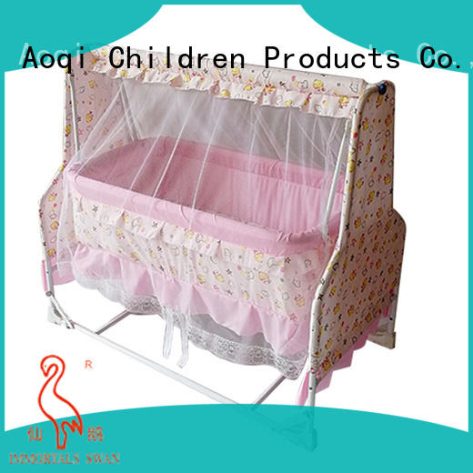 Aoqi round shape where to buy baby cribs with cradle for household