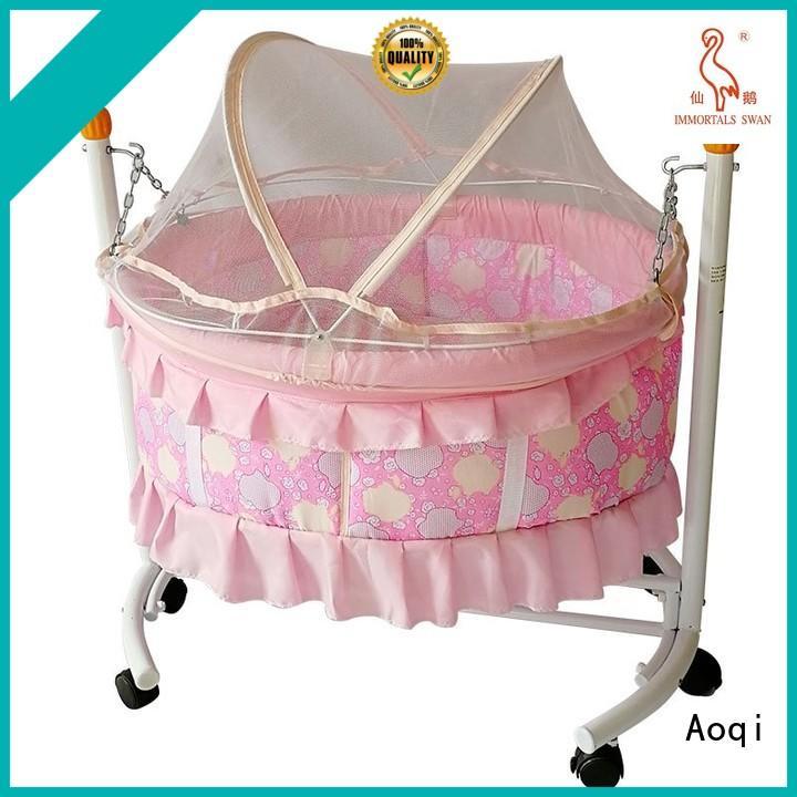basket braking baby crib online transformable Aoqi Brand company
