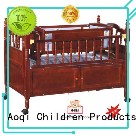 cradle Custom multifunctional kids baby crib online Aoqi metal