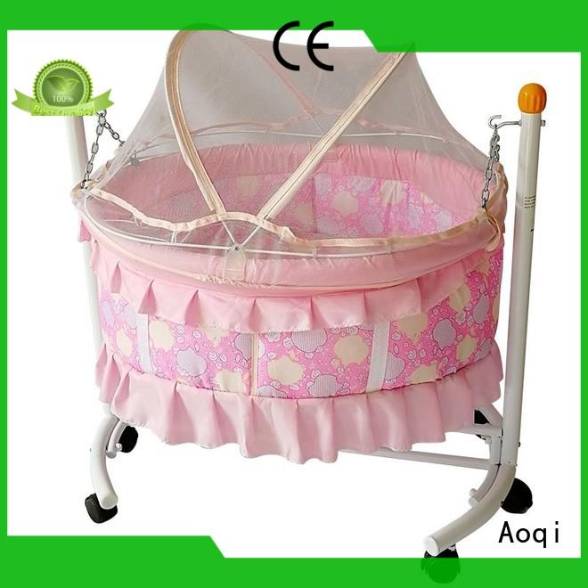 Aoqi round shape baby bed with drawers customized for bedroom